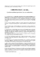 CHIROPRATIQUE DES FAITS