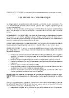 CHIROPRATIQUE – LES ETUDES