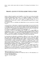 FRANCE & FOLIE