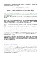 IMPACT ECONOMIQUE DE LA CHIROPRATIQUE
