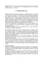LA MEMOIRE DE L'EAU