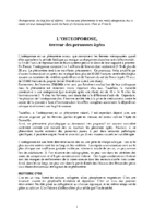 L'OSTEOPOROSE