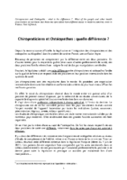 CHIROPRATICIENS & OSTEOPATHES